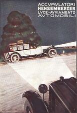 PUBBLICITA' 1922 HENSEMBERGER BATTERIA ACCUMULATORE  AUTO D'EPOCA C.BISCARETTI