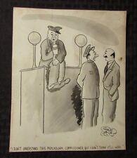 Vintage Charles Chas Sage 8x10 One Panel Gag Original Art Wash POLICE