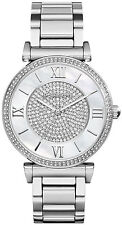 Michael Kors Catlin Womens Watch MK3355 Silver Crystal Dial