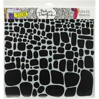 12x12 Stone Increase Stencil Crafters Workshop Paper Art Craft Template TCW834