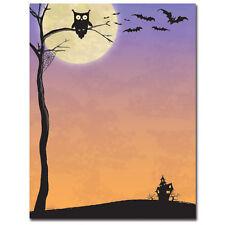 80pk Halloween Who Halloween Letterhead w/ Matching Halloween Who Envelopes