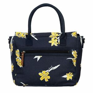 NEW Animal brand Solstice india ink blue navy yellow floral fashion shoulder bag