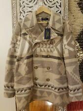 New ListingPolo Ralph Lauren Blue Label Geo Print Southwestern Pea Coat Jacket Sz Xl Nwt