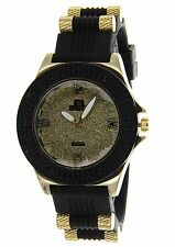 Iced Out Hip Hop Big Face Men's Watch with a Rubber Bullet Band by ICE STAR