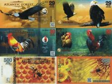 ATLANTIC FOREST - Lotto 3 banconote 29-30-500 aves dollars 2016 FDS UNC