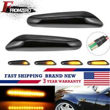 2X Dynamic LED Side Marker Smoked Turn Signal Light Lamp For BMW E90 E91 E92 E46