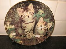 CAT PLATE   -    MITTEN & MISCHIEF - PURRFECT PORTRAITS  -    DANBURY  MINT