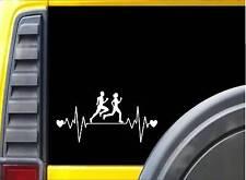 "Running Family Lifeline J779 8"" Sticker runner decal ˜  marathon 26.2"