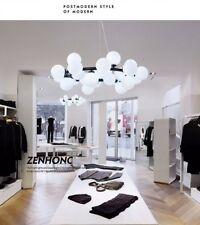 Modern Round 25 Glass Ball Dining Living Room G4 LED Milk Glass Pendant Lamp