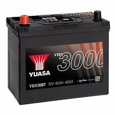 Yuasa YBX3057 12V Car Battery 45Ah 400A 057 Type Sealed Maintenance Free