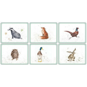 Pimpernel Wrendale Placemats Set of 6 Country Animal Farm Design