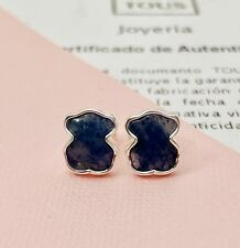 Original TOUS Silver New Color Dumortierita Pendientes