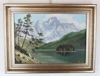 Öl Gemälde auf Leinewand Gebirgslandschaft-Maler unbekannt von 1915