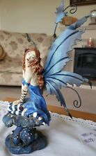 LARGE NEMESIS NOW BLUE FAIRY ON TOADSTOOL RARE? RETIRED