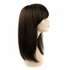 UKJF180  charming Cos dark brown long straight cosplay wig wigs for women