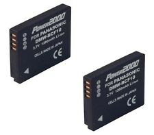 TWO 2X Batteries for Panasonic DMW-BCF10 DMW-BCF10PP DMW-BCF10E