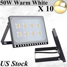 10X 50W Viugreum Ultra-thin LED Flood Light Outdoor Garden Lamp Warm White IP67