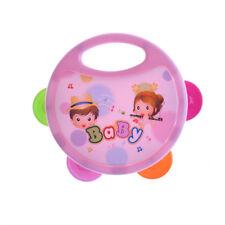 Plastic Hand Drum Musical Tambourine Beat Instrument Baby Educational Toy LL
