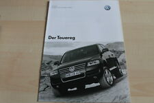 119557) VW Touareg - Preise & Extras - Prospekt 12/2003