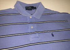 Polo Ralph Lauren Polo Shirt  Baby Blue/White Stripe Men's L