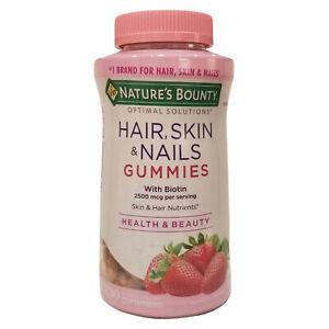 Nature's Bounty Hair, Skin, & Nails + with Biotin, 230 Gummies *EXP 07/2021*