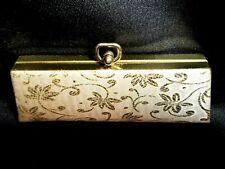 Vintage 1960-1979 Eyeglasses Hard Case Gold Threaded Damask Floral. Ships Free!