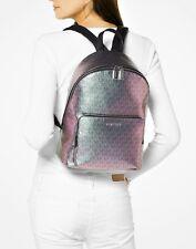 Michael Kors Backpack Bag Wythe LG Signiatur Backpack Pale Blue Nickel New