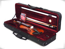 New Student 4/4 Antique Violin+Bow+Light Weight Case+Rosin+Extra String Set