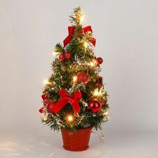 Tree Xmas Decor Nightlight Decoration Mini LED Light Pine Table Indoor Trees 1pc