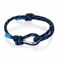 Stainless Steel Nautical Sailor Solid Paracord Rope Men's Outdoor Sport Bracelet