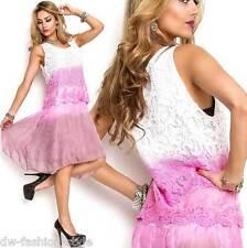 Trägerkleid Kleid Tunikakleid Romantisches Damenkleid - Mit Spitze (D-38 )