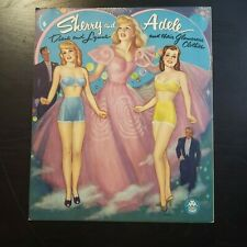VINTAGE 1953 SHERRY & ADELE Glamorous Clothes Paper Doll Book ~ UNCUT ~ Merrill