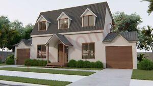 Rosemei Lakeview 3 bedroom + 3 Bathroom + Study 183m² Steel Frame Kit Home.
