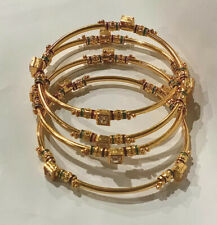 Indian Ethnic Delicate Unique Jewelry Bollywood Gold Plated 4pc Bangles Set