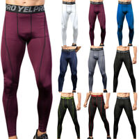 Men's Compression Base Layer Leggings Bottoms Thermal Trousers Cycling Training