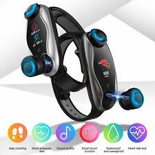 2-In-1 Smart Watch with Tws Earbud Fitness True Wireless Sport Headphone Headset