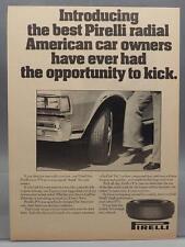 Vintage Magazine Ad Print Design Advertising Pirelli Automobile Tires