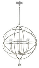 CRYSTORAMA 9228-OS SOLARIS BRIDGER CANDLE CHANDELIER OLDE SILVER FINISH **NIB**