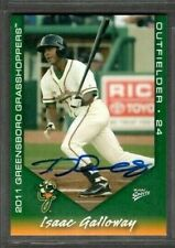 2011 Multi-Ad Greensboro Grasshoppers #25 Isaac Galloway Card Signed Autograph