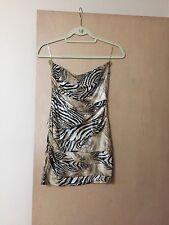 XXI Forever 21 Tiger Animal Print Strapless Bodycon Dress Medium