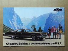 "True Vintage Car Poster Dealer AD 1972 CHEVROLET CAPRICE 17"" x 11"""
