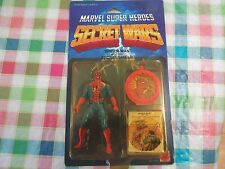 1984 Mattel Marvel Super Heroes Secret Wars SPIDER-MAN Sealed on Card
