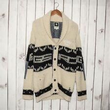 G Star RAW Men's Dasher Cardigan Sweater Heavy Knit Wool Beige Size Medium