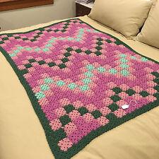Handmade Afghan Blanket Throw - Designer Collection - Rose Garden