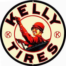 Kelly Tires Garage Shop Sign 18 Round