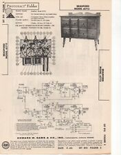 1966 BRADFORD 61713 RECORD PLAYER AMPLIFIER SERVICE MANUAL PHOTOFACT SCHEMATIC