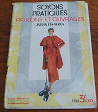 REVUE SOYONS PRATIQUES PATRONS ET OUVRAGES  1 ER AVRIL 1933