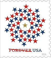 2016 47c Red & Blue Stars Patriotic Spiral, Booklet Single Scott 5131 Mint VF NH
