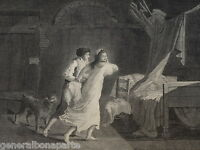 GRANDE Gravure XVIII SCENE GALANTE CURIOSA LA SERRURE AUGUSTIN LEGRAND VALLET