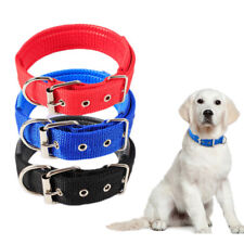 Pet dog collar soft Nylon Padded adjustable for small big dogs Pet supplies